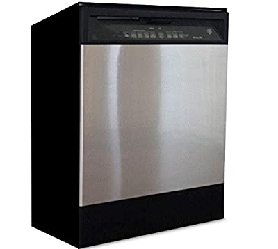"""Dishwasher Update: Brushed Nickel Stainless Peel and Stick Panel 36"""" W x 26"""" L by EzFaux Décor"""