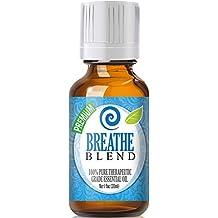 Breathe Blend 100% Pure, Best Therapeutic Grade Essential Oil - 30ml / 1 (oz) Ounce - Peppermint, Rosemary, Lemon, Eucalyptus