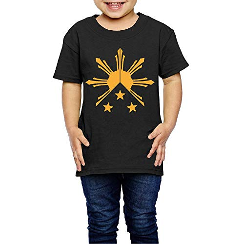 Philippines Filipino Sun and Stars Flag Costume Kids O-Neck Short Sleeve Shirt Tee Jersey for 2-6 Toddlers