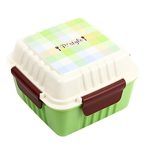 Japanese Lunch Box Faqueiro Microondas Bento Picnic Lunchbox Dinner Set For Kids Compact And Travel Friendly Size, Easy To Carry (green)
