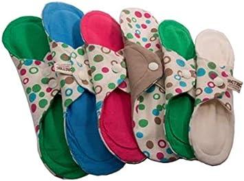pack compresas de algodón orgánico reutilizables multitalla: Amazon.es: Belleza