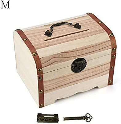 Huchas Decorativas Cerradura de Moneda Caja Decorativa Caja de ...
