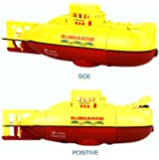 Kids Mini RC Toy Remote Control Boat Submarine Ship Electric Toy Waterproof Diving in Water for Gift 6 Channel Remote Control Submarine- Yellow