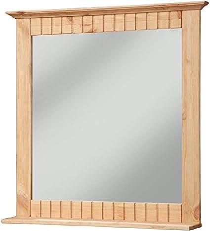 clever-moebel Specchio da Bagno in Legno di Pino Oliato