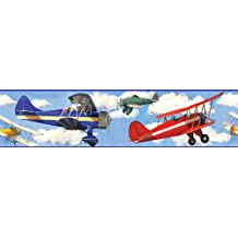 Vintage Planes Wall Borders for Kids - Girls and Boys