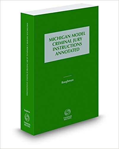 Amazon Michigan Model Criminal Jury Instructions Annotated
