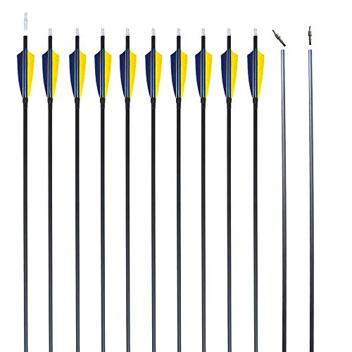 REEGOX Archery Hunting and Targeting Practice Arrows for Compound Recurve or Traditional Bow 30 inch with Removable Tips(Pack of 6/12)