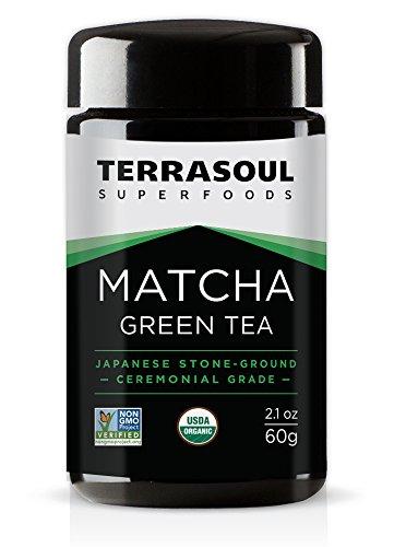 Terrasoul Superfoods Organic Matcha Green Tea (Ceremonial Grade in Miron Glass), 2.12 ounces (60g)