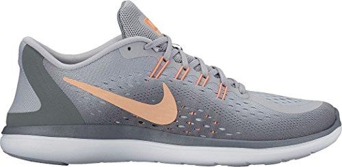 Nike Women's Nike Free Rn Sense Running Shoe, Zapatillas Deportivas para Interior para Mujer Wolf Grey/Sunset Glow/Cool Grey