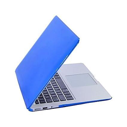 eDealMax plástico Brillante Duro cristalino de la cubierta protectora del caso 13inch Azul Para MacBook Air
