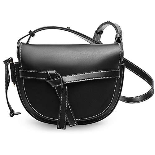 GSHGA Donna Borsetta sella spalla crossbody Tote Fashion Bag Black