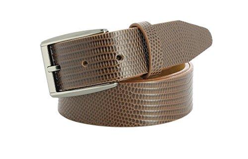 Remo Tulliani Men's 35mm Wide Ruben Italian Calfskin Leather Dress - Tulliani Belt Calfskin