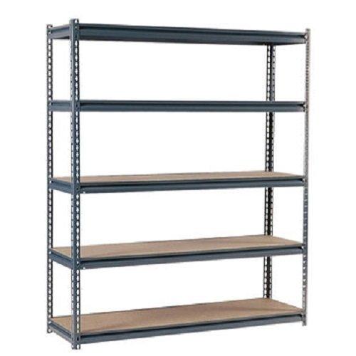 Edsal UR2472 Industrial Gray Shelving, 16-Gauge Steel, 5 Adjustable Shelves, 700 lb. Capacity, 72'' Height x 72'' Width x 24'' Depth