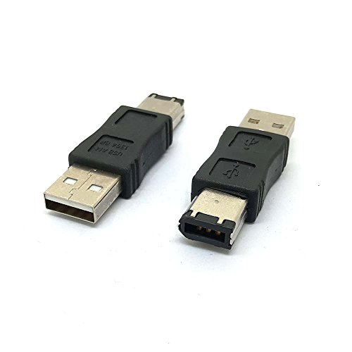 Firewire IEEE 1394 6 pines macho a USB 2.0 macho adaptador convertidor, adaptador Firewire