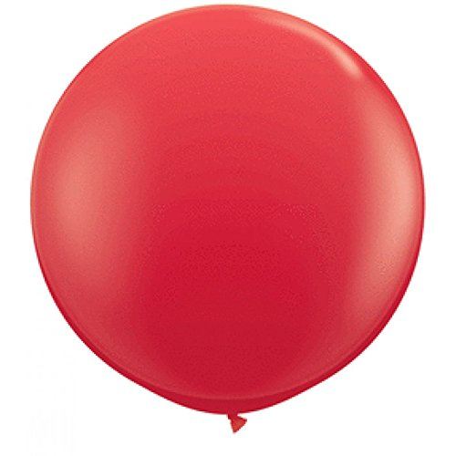 Qualatex 42554 Red Latex Balloons, 36