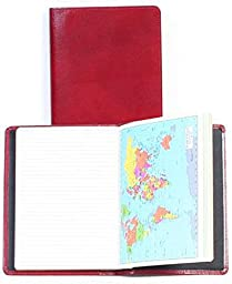 Scully Italian Calfskin Leather Ruled Desk Journal (Red)