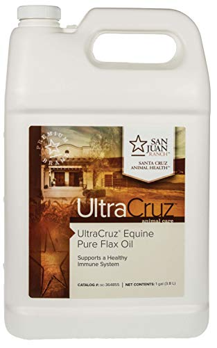 UltraCruz Pure Flax Oil Supplement for Horses and Livestock, 1 Gallon (Horse Flaxseed)