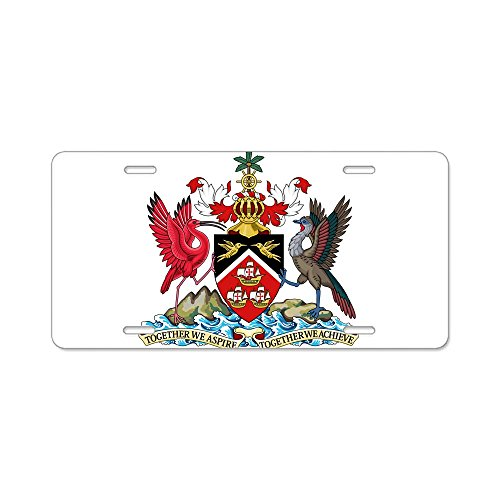 CafePress - Trinidad And Tobago Coat Of Arms Aluminum License - Aluminum License Plate, Front License Plate, Vanity (Front Arm Plate)