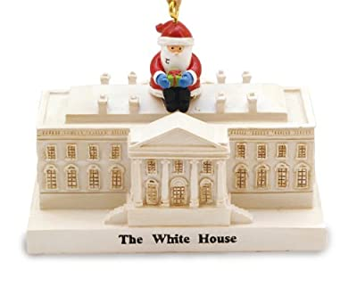 Cape Shore Santa Visiting President at White House Washington DC Christmas Holiday Ornament