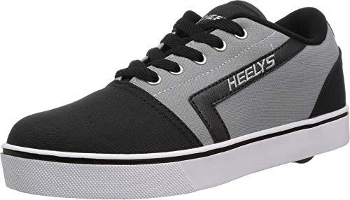 Heelys Boys' GR8 Pro Tennis Shoe, Black/Grey, 13c Medium US Big Kid (X2 Skate Shoes)