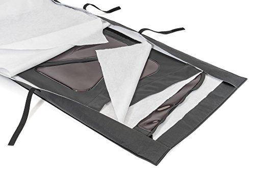 Fabric Top Jeep Wrangler - MasterTop 13100301 Black Soft Protect Window Roll