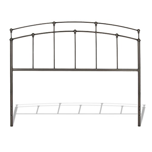 Leggett & Platt Fenton Metal Headboard Panel with Gentle Curves, Black Walnut Finish, Full ()