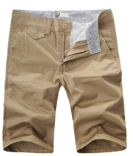 Wantdo cotton Big and Tall Men Candy Color Casual Short 157