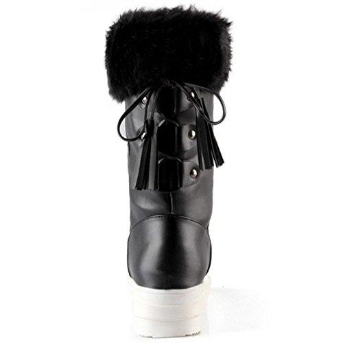Tirer Le Coolcept Femmes Femmes Noir Sur Bottes Coolcept xw7IY4qx