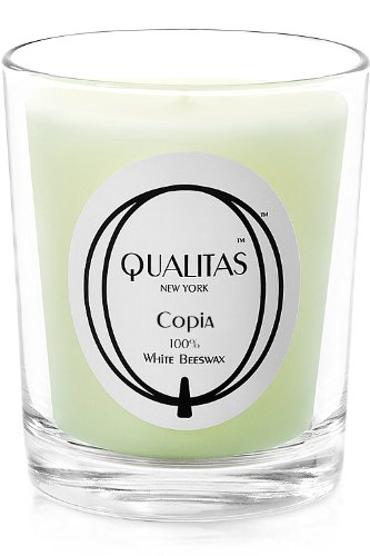 Amazon.com: Qualitas Beeswax Candle, Copia Scented, White: Home ...