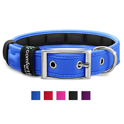 Metric USA Comfort Fit Pet Soft Padded Small Medium Large Dog Collar Red Blue Purple Black Pink with Buckle Adjustable…