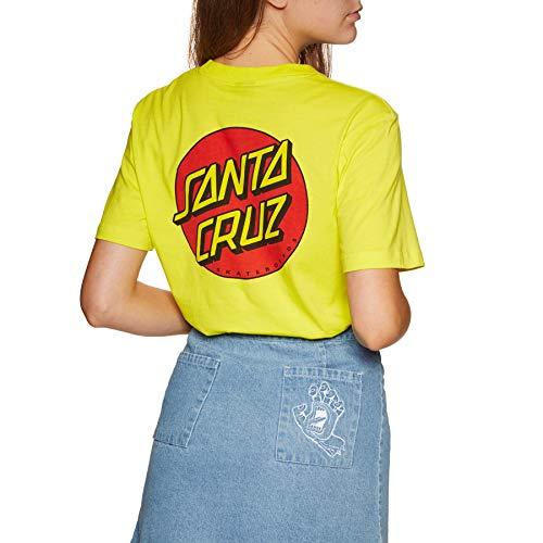Santa Cruz Classic Dot Womens Short Sleeve T-Shirt UK 8 Reg Limeade ()