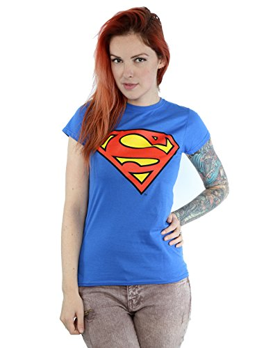 DC Comics Women's Superman Logo T-Shirt X-Small Royal Blue