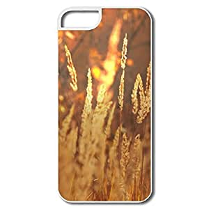 IPhone 5 Cases, Golden Field Covers For IPhone 5 5S - White Hard Plastic