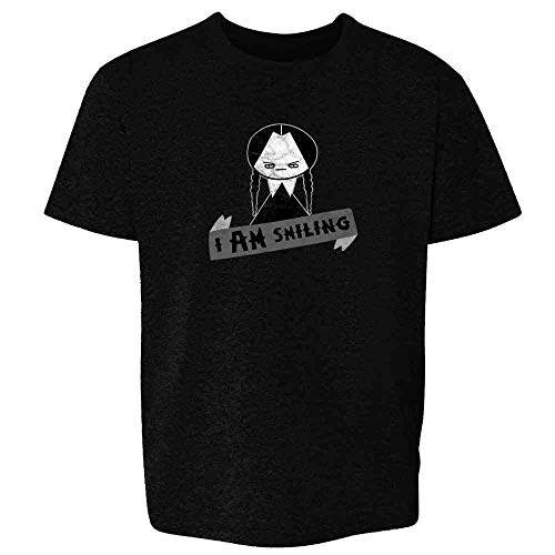 I AM Smiling Funny Goth Black M Youth Kids T-Shirt -