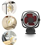 YXMxxm Portable Baby Fan with Clip - Adjustable Speed - Clip-On Stroller Fan for Baby, Car Seat, Gym, Travel, Treadmill - USB/Battery Powered,Black
