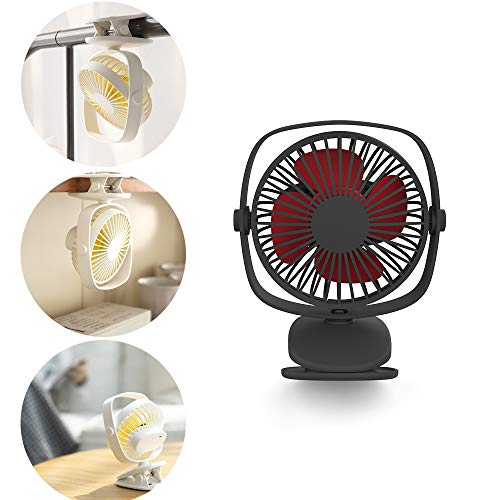 YXMxxm Portable Baby Fan with Clip - Adjustable Speed - Clip-On Stroller Fan for Baby, Car Seat, Gym, Travel, Treadmill - USB/Battery Powered,Black (625 Usb)