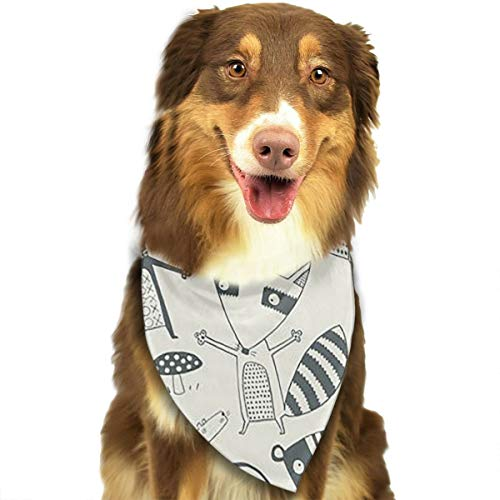 FRTSFLEE Dog Bandana Nancy Wolff Muchas Cosas Scarves Accessories Decoration for Pet Cats and Puppies ()