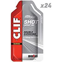 24 Count CLIF SHOT Energy Gel Double Expresso Flavor With Caffeine 1.2 Ounce