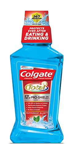 Colgate Peppermint Toothpaste - Colgate Total Advanced Pro-Shield Mouthwash, Peppermint, 8.4 Fluid Ounce (Pack of 6)