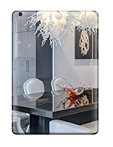 Hot Fashion Design Case Cover For Ipad Air Protective Case Glass Blown Chandelier And Acid Washed Metal Table