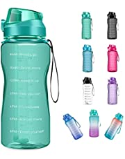 4AMinLA Motivational Water Bottle 64/100oz Half Gallon Jug with Straw and Time Marker Large Capacity Leakproof BPA Free Fitness Sports Water Bottle