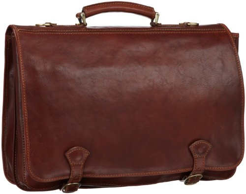 Floto Italian Leather Messenger Bag Briefcase - 8