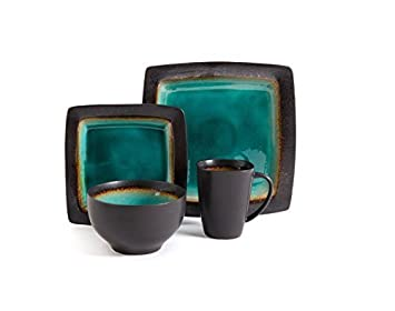 Gibson Elite Ocean Paradise 16-Piece Dinnerware Set Jade by Gibson Overseas Inc  sc 1 st  Amazon UK & Gibson Elite Ocean Paradise 16-Piece Dinnerware Set Jade by Gibson ...