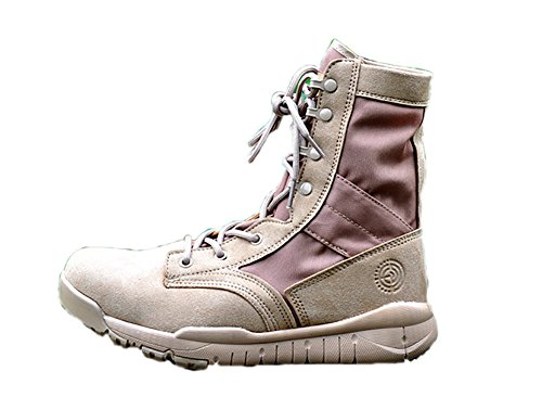 No.66 Town Men's Shock-Absorbent Hiking Boot With Zipper,Climbing Boots 4# Light Khaki(leather and Nylon)