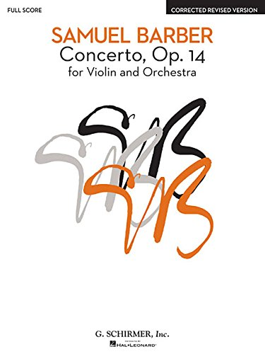 Concerto, Op. 14 - Corrected Revised Version: for Violin and Orchestra