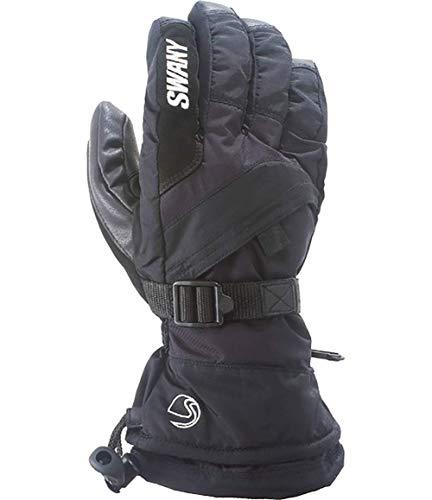 (Swany X-Over Junior Gloves, Black, Large)