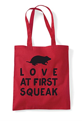 Pets Shopper Rodent Funny Bag Squeak First Love Tote Person Red Animal At Lover B0qnxP