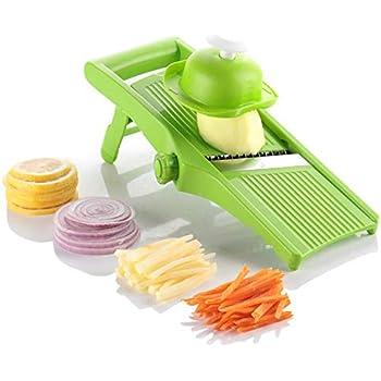 LNOCCIY Multi-Function Manunal Mandoline Slicer Premium Vegetables Grater Cutter Peeler Julienne Slicer for Onion Chips Potato Zuchinni