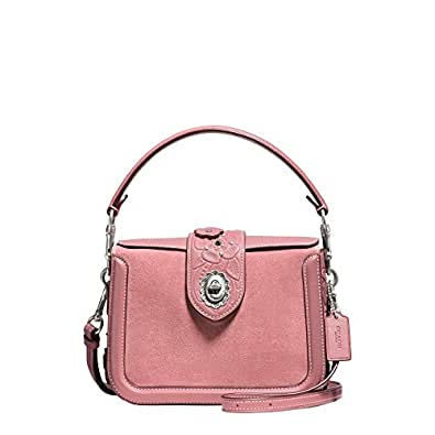COACH Women's Tea Rose Tooling with Applique Page Crossbody Lh/Dusty Rose One Size