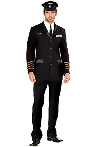 Mile High Pilot Costumes (Mile High Pilot Hugh Jorgan Adult Costume - Large)